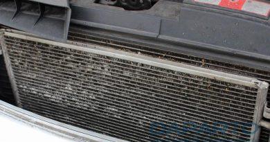 Klimakondensator, eingebaut